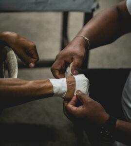 Bandaging Cut