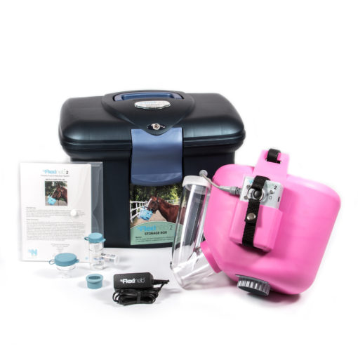 Flexineb 2 Portable Equine Nebulizer Pink Carry Case