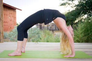Yoga pose back bend