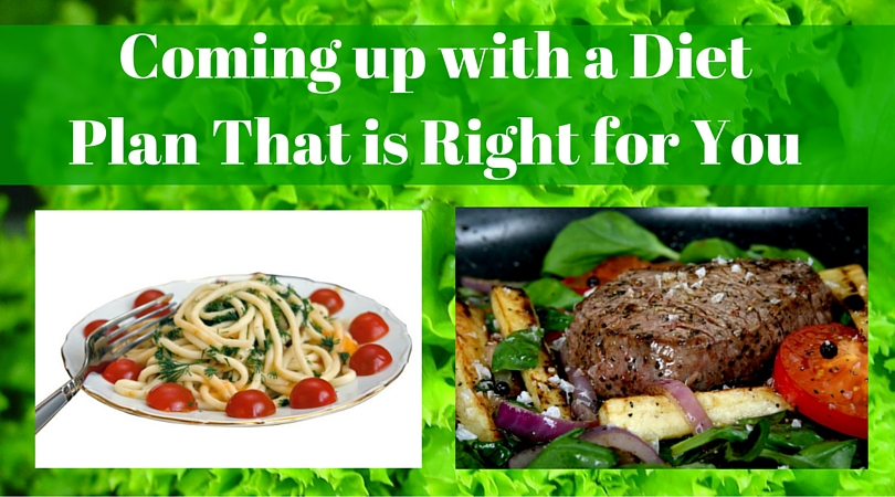 Coming up with a Diet Plan That is Right for You