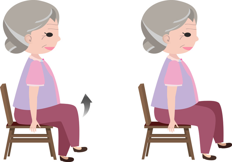 chair exercises leg raises